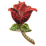 Swarovski Crystal Red Rose Hair Clip
