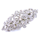 Swarovski Crystal & Antique Silver Victorian Hair Barrette