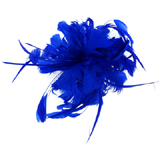 Large Navy Blue Feather Corsage - Hair Fascinator / Brooch / Accessory